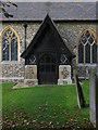 TL4330 : Porch, St Mary's Church, Brent Pelham by Jim Osley