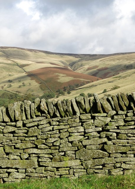 Gritstone wall in Malcoff