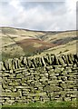 SK0782 : Gritstone wall in Malcoff by Neil Theasby