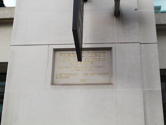 Photo of Franz Liszt stone plaque
