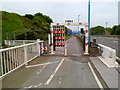 ST5689 : SE end of the overwater section of the Severn Bridge, Aust  by Jaggery