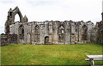 SJ5415 : Abbot's hall at the ruined Haughmond Abbey, near Haughton, Shrops by P L Chadwick