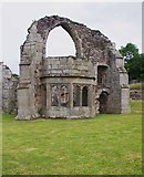 SJ5415 : Bay window of the abbot's private rooms, Haughmond Abbey, near Haughton, Shrops by P L Chadwick