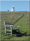 SW7011 : The Lizard: bench and lighthouse by Chris Downer