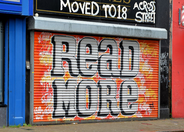 Decorated shutter, North Street, Belfast (3)
