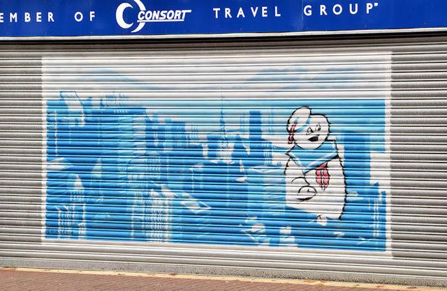 Decorated shutter, North Street, Belfast (4)
