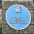 SJ8398 : Blue plaque: James Prince Lee by Gerald England