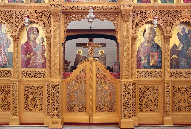 St Bartholomew, (now St Nectarios), Battersea - Iconostasis