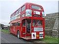 NU1835 : London Bus, Bamburgh by Dave Hitchborne