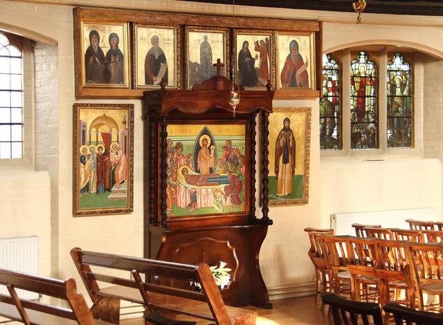 St Bartholomew, (now St Nectarios), Battersea - Icons