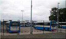 J1586 : The rear of Antrim's Ulsterbus Station by Eric Jones