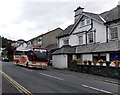 SD4097 : Coach parked near Beresford's Restaurant & Pub in Bowness-on-Windermere by Jaggery