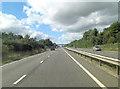 SJ5511 : A5 approaches Pelham Road overbridge by Stuart Logan