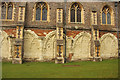 TL1407 : Abbey cloisters by Richard Croft