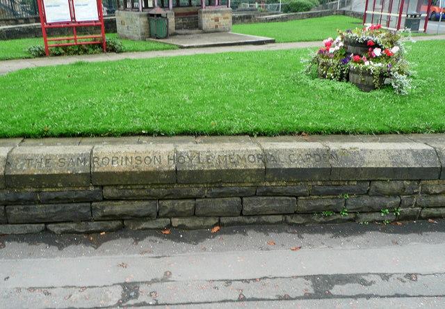 Inscription for the Sam Robinson Hoyle Memorial Garden