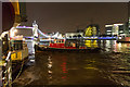 "TQ3380 : Tug Guiding ""Waverley PS"" to Tower Pier, London by Christine Matthews"