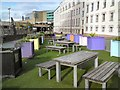 SJ8398 : Picnic Area on former end of Deansgate by Gerald England