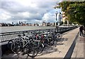TQ3680 : Bikes on the Waterfront by Des Blenkinsopp