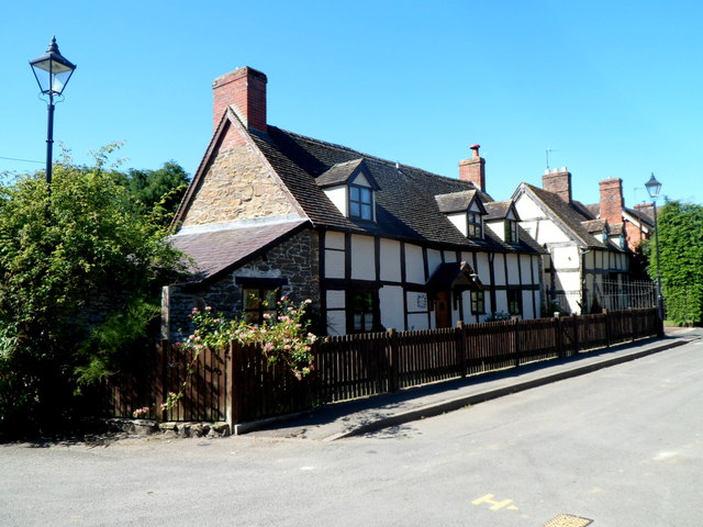Black and white houses in Newton, Craven Arms