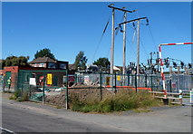 SO4382 : Building site inside an electricity substation, Craven Arms by Jaggery