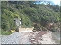 SW7827 : WWII pillbox on Porth Sawsen beach by Rod Allday