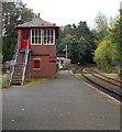 SD3787 : Signalbox at Lakeside railway station by Jaggery