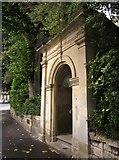 ST5773 : Porch to passage, Clifton Park, Bristol by Derek Harper
