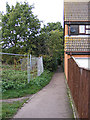 TM3863 : Footpath to Brook Farm Road by Adrian Cable