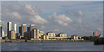 TQ3980 : North Bank of the River Thames by Christine Matthews