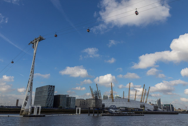 Cable Car over The Thames, Greenwich