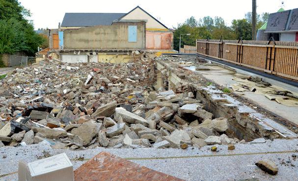 Demolished shops, Comber (3)