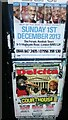 TQ3268 : Fly-posters, Thornton Heath by Christopher Hilton