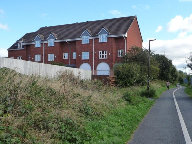Three-storey houses in Akeman Court