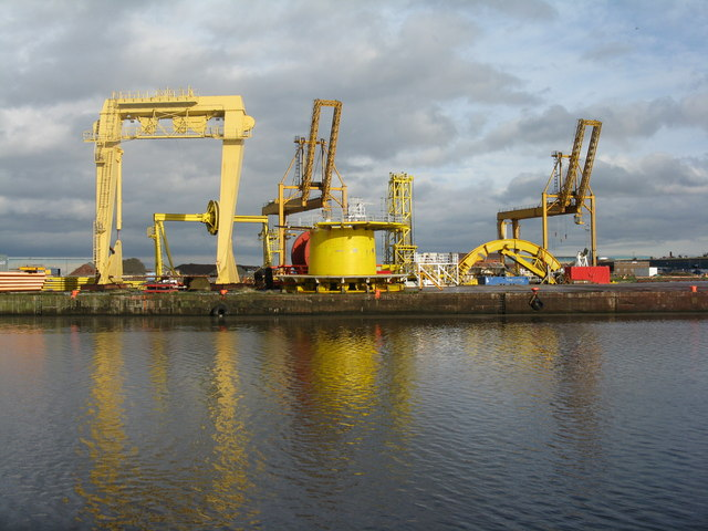 Colourful quay at Leith