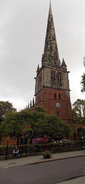 Steeple of St Mary's Church, Shrewsbury