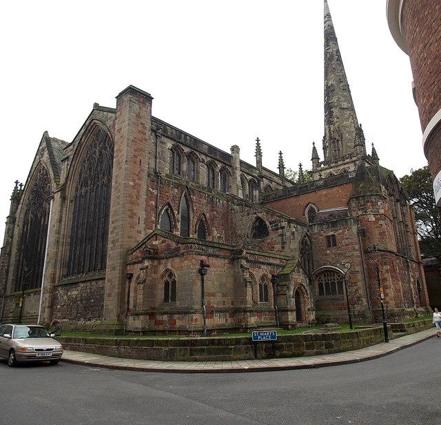 Grade I listed St Mary's Church, Shrewsbury
