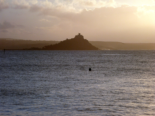St Michael's Mount on a grey Cornish morning