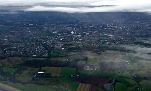Glasgow from the air