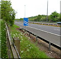ST5788 : M48 motorway approaches junction 1 from the SW near Aust by Jaggery