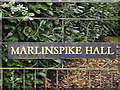 TM3674 : Marlinspike Hall sign by Geographer