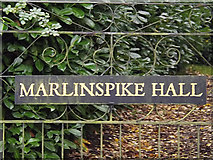 TM3674 : Marlinspike Hall sign by Adrian Cable