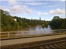 SX9193 : River Exe from train entering St David's Station by Raymond Knapman