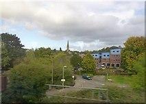 SX9192 : Okehampton Road from passing train into Exeter by Raymond Knapman