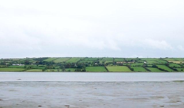 View across Larne Lough towards the Ballyharry area of Islandmagee