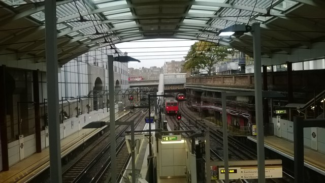 Farringdon station: looking north from the footbridge