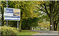 "J3675 : ""Greenway"" sign, Victoria Park, Belfast by Albert Bridge"