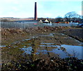 SO6414 : Whimsey Industrial Estate chimney stack, Cinderford by Jaggery