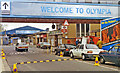 TQ2479 : West side entrance to Kensington Olympia station, 1994 by Ben Brooksbank
