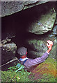 HT9538 : The chimney descent into da Sneck o da Smaalie by Julian Paren