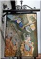 ST7593 : Royal Oak Inn sign, Wotton-under-Edge by Jaggery